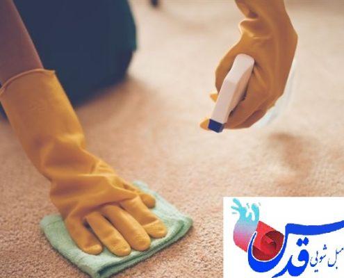 پاک کردن لکه فرش